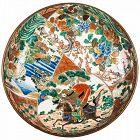 Japanese Kutani porcelain large bowl