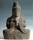 Stone Bato (Horse-Head) Kannon Bosatsu Edo 18/19 c.