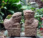 Stone Koma-Inu Pair Granite Mid-Joseon 17 c.