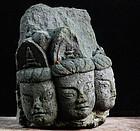 Stone Fragment Cliff Sculpture Magaibutsu Muromachi 15 c.