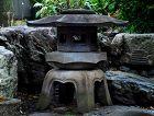 Stone Yukimi-doro Snow-Viewing Lantern Taisho/Showa ca. 1930