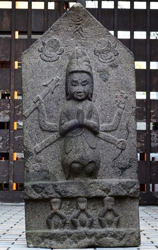 Stone Koshinto Stupa Shomen-Kongo Chickens Monkeys Edo 18/19 c.