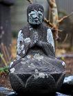 Stone Seated Jizo Bosatsu mid-Edo ca. 1750
