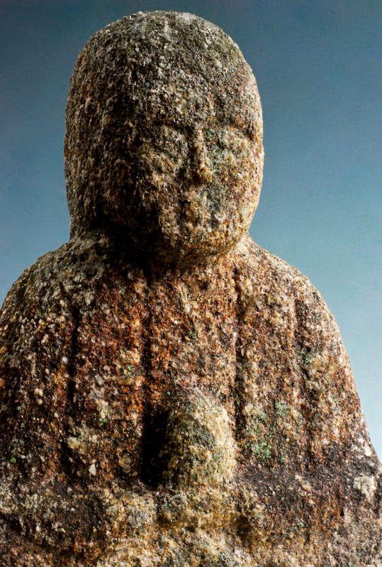 Stone (Granite) Jizo Bosatsu Bodhisattva Mid-Edo 18 c.