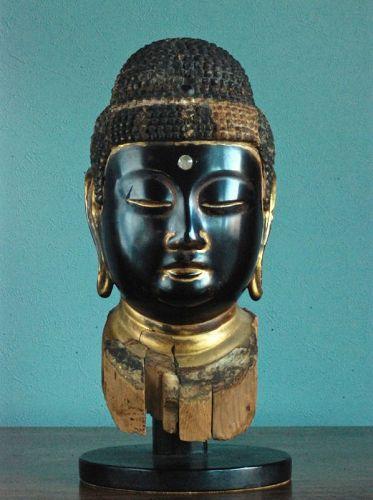 Wooden Buddha Head Fragment Butto Late-Heian~Early-Kamakura ca. 1200