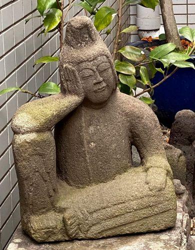 Stone Nyoirin Kannon Bosatsu mid-Edo ca. 1750