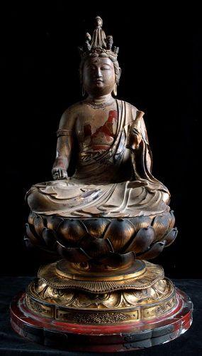 Wooden 11-Headed Kannon Bosatsu Bodhisattva Kamakura Period ca. 1300