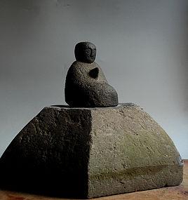 Stone Jizo Bosatsu bodhisattva Buddha Edo 16/17 c.
