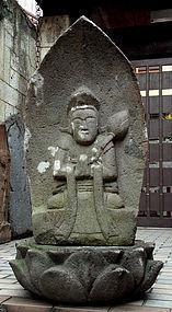 Stone Bosatsu Bodhisattva Kannon Seishi Buddha Jizo Edo