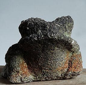 Stone Frog Toad Leaper Jizo Garden Sandstone Edo