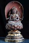 Aizen-Myo Knowledge King Fudo-Myo Dai-Nichi Buddha 16c.