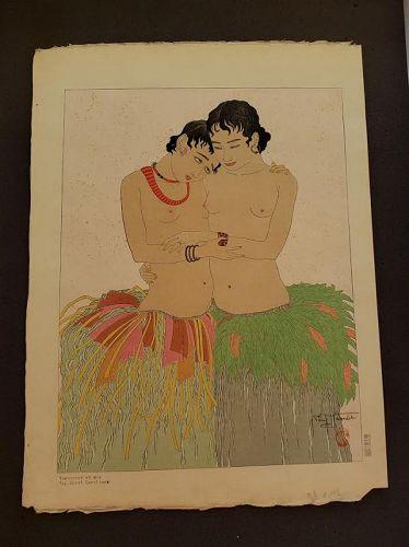 Jacoulet Japanese Woodblock Print