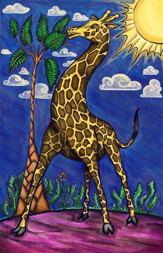 Giraffe in the Sun