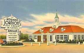 Howard Johnson's, Linen Postcard, Rt 66