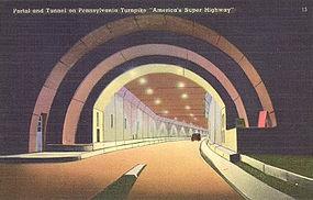 Postcard, Pennsylvania Turnpike, Tichnor