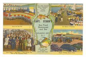 Capt. Starn's  Atlantic City  Linen Postcard