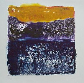 """Emily Mead, Monoprint, """"After Image"""""""