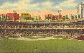 """Polo Grounds, New York City"" Linen P.C., Curt Teich"