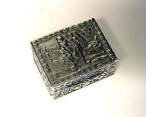Vintage Silver Pill Box Italy