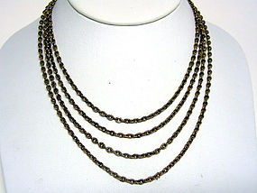 An Antique Victorian Fancy Gold Chain