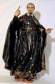 Early 19th C Figure Of St. Aloysius  Gonzaga