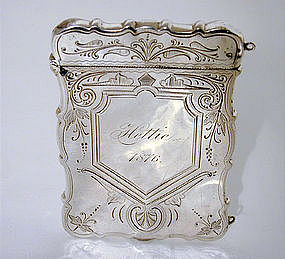 Victorian Sterling Calling Card Case, Ca.1876