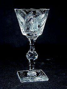 "Hawkes ""gravic Fruit"" Pattern Cut Crystal Glass"