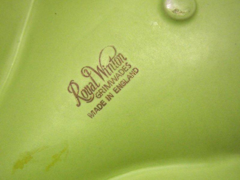 Vintage Royal Winton Large Leaf Shaped  plate, Ca 1935