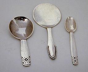 Three Georg Jensen Silver Serving Pieces