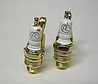 Vintage Enamel Spark Plug Cufflinks