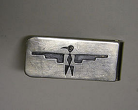 Vintage Native American Silver Bird Money 