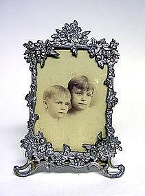 Victorian Ornate Flower Form Picture Frame