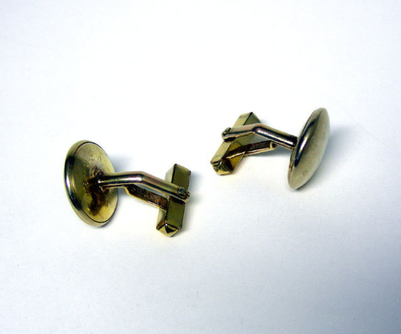 Vintage Gold Filled Button Toggle Back Cufflinks
