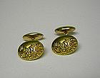Victorian 18k Gold And Diamond Cufflinks
