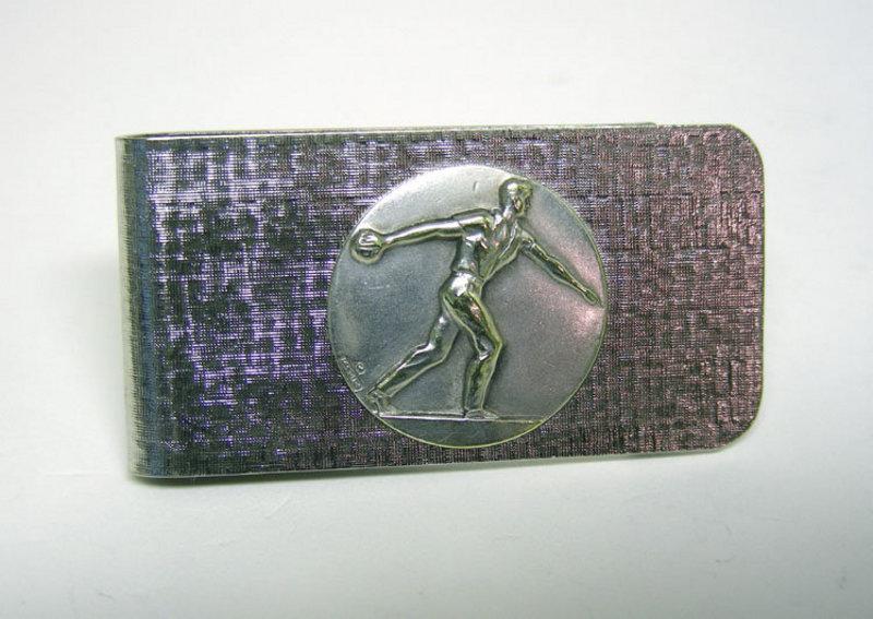 Vintage Silverplate Bowler Money Clip