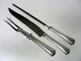 Vintage Silver Plate Carving Set By  wallace