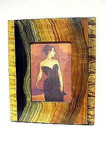 Contemporary Artist-designed Faux Finish Frame