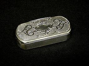 Rare Antique Silver Gilt Snuff Box  france