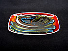 Poole Pottery Delphis dish by Jean Millership