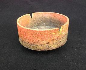 Fantoni chamotted bowl, 1950's