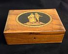 Italian Sorrento ware marquetry box