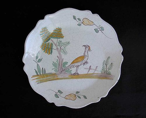 French faience plate, c 1800
