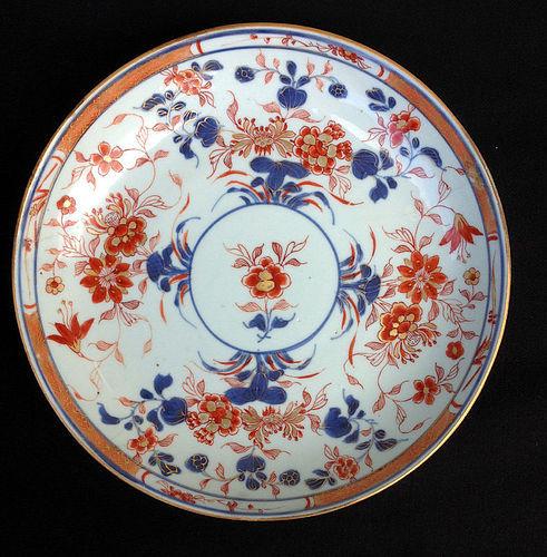 Chinese Imari dish or bowl, Kangxi period, c 1700