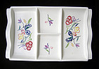 English Poole Pottery Déco style serving tray