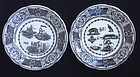 French talking plates / assiettes parlantes, Gien c 1950�s