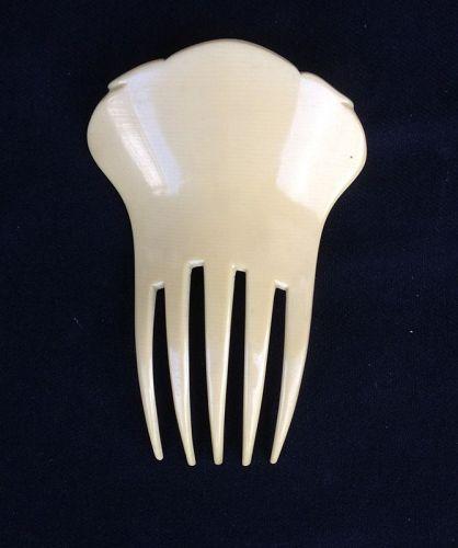Celluloid Art Nouveau hair comb