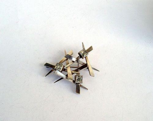 1960�s modernist silver pin /brooch by Kordes & Lichtenfels, Germany