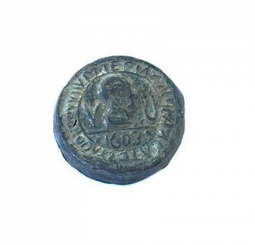 Lead seal for a Venetian Theriac capsule / jar, 17th century