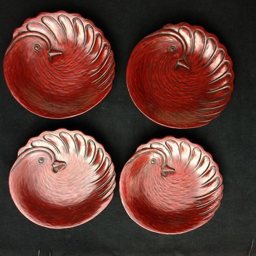 Japanese Kamakura-bori lacquer dishes
