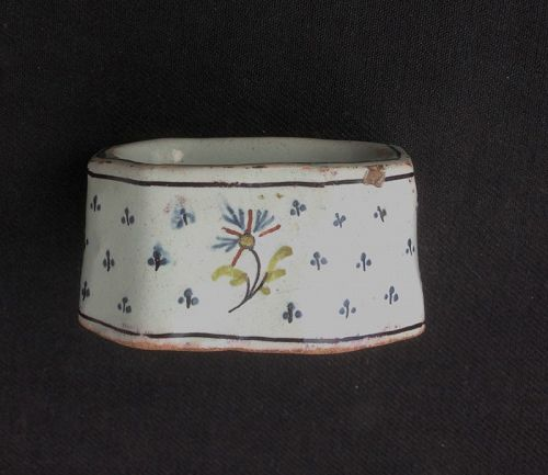 French 18th c earthenware salt